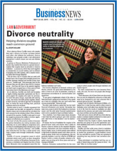Divorce Neutrality Article in Business News by Maren Cardillo